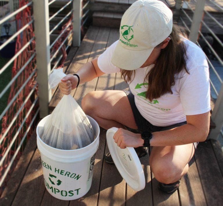 Kat working at Green Heron